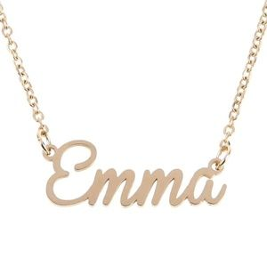 Jewelry - Emma Gold Name Nameplate Necklace